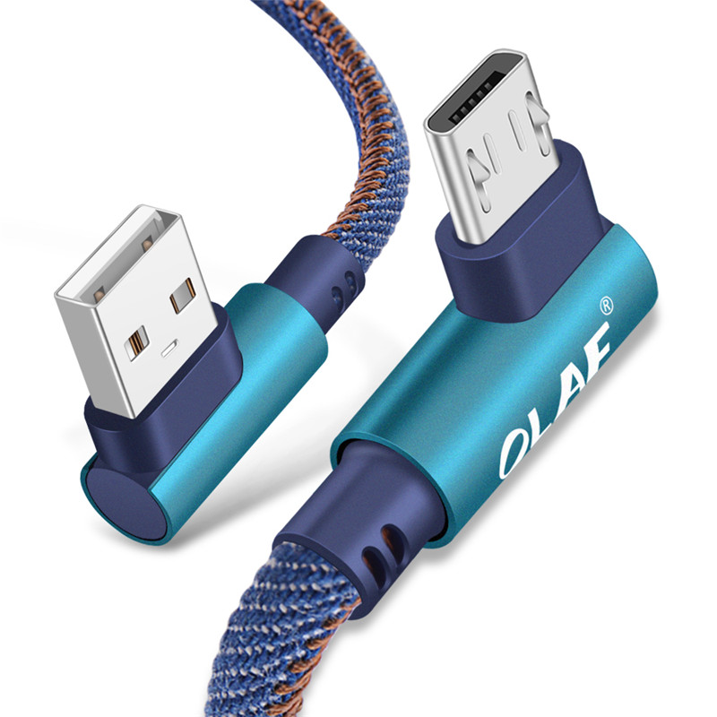 90 Degree Fast Charging Micro USB Data Cable Mobile phone