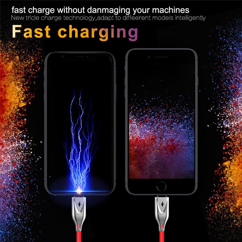 3D Zinc 2.3A Micro USB Cable Fast Charging USB Data Cable