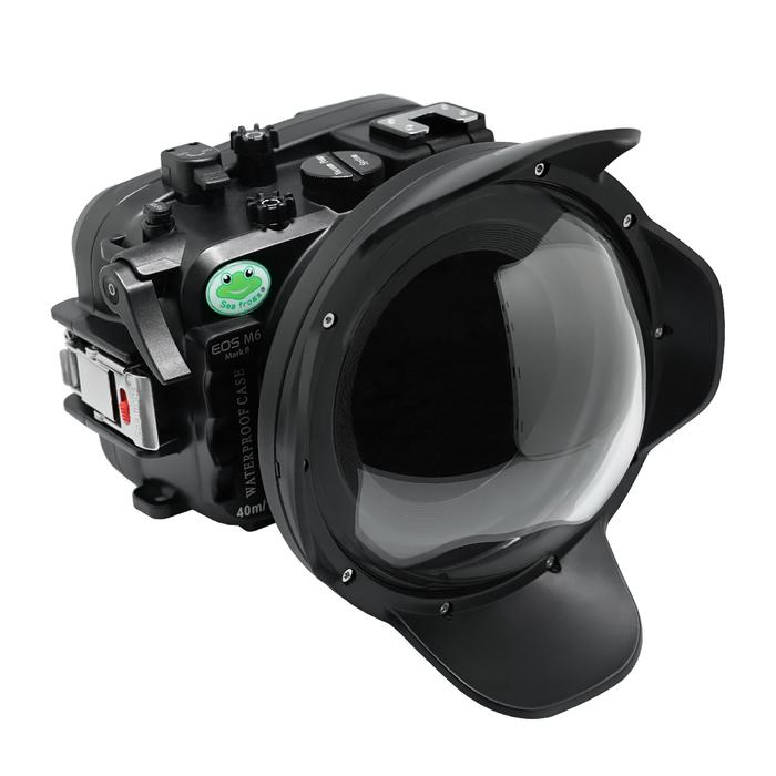 Canon M6 Mark ii waterproof case wide angle dry lens dome