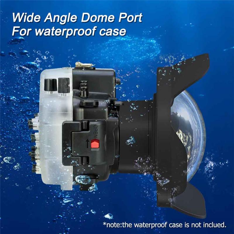 WA005-F Meikon wide angle dry lens dome for canon camera housing