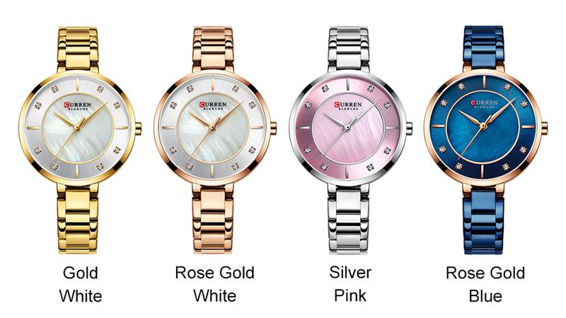 CURREN 9051 women quartz watch bracelet watches