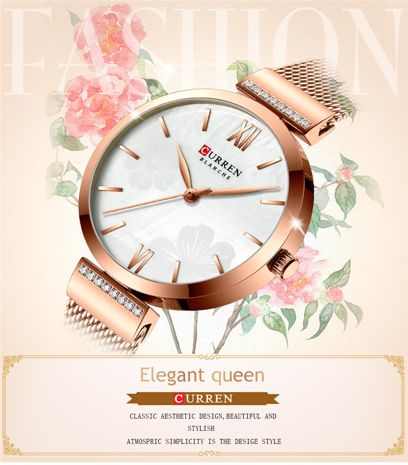 CURREN 9067 women quartz watch lady bracelet watches