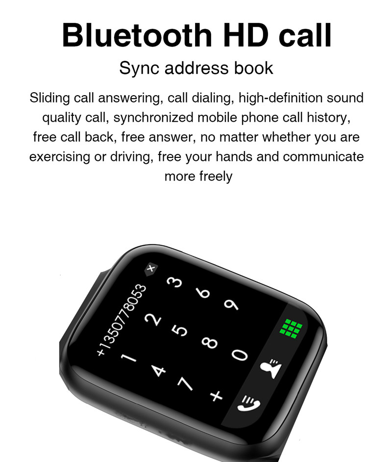 HW22 full screen smart watch blue tooth smartwatch