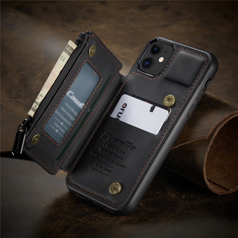 C20 Retro Card Slots Leather Wallet Case For iPhone 12 11 Pro Xs Max