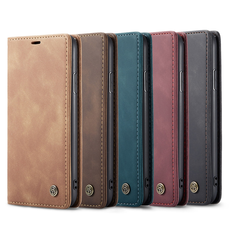 retro card slots leather wallet case for iPhone 11 pro max