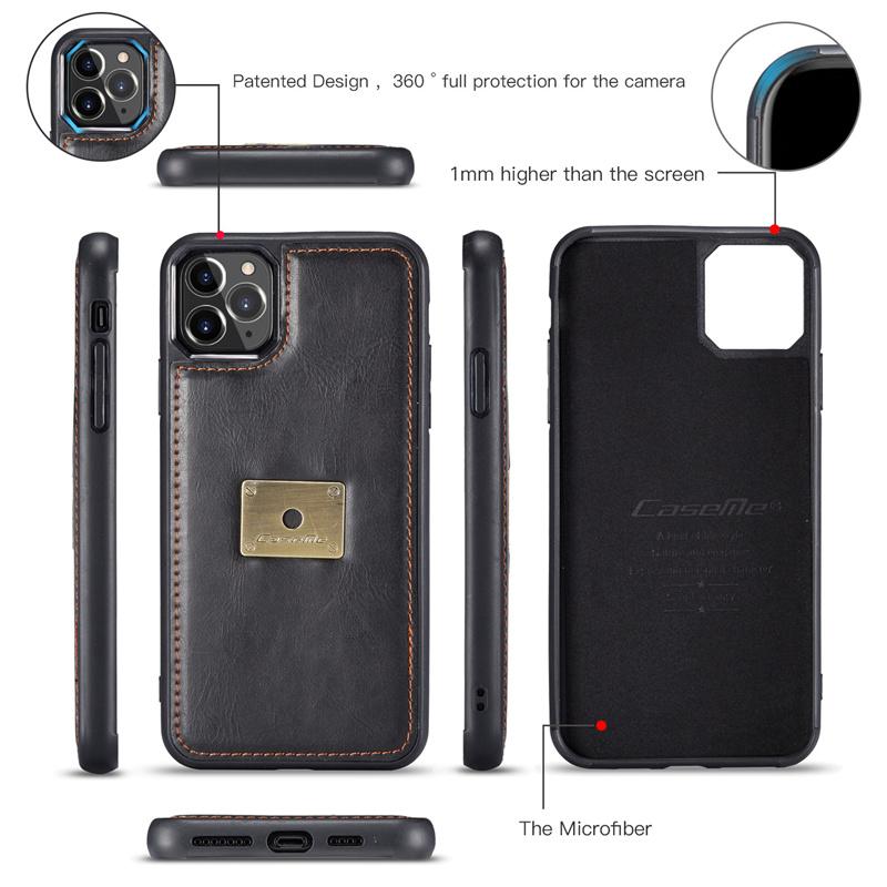 magnetic leather wallet case For iPhone 12 11 pro max Qin