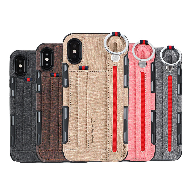 metal ring cloth wallet Case For iPhone 12 11 pro max mini 8 7 6 plus C42