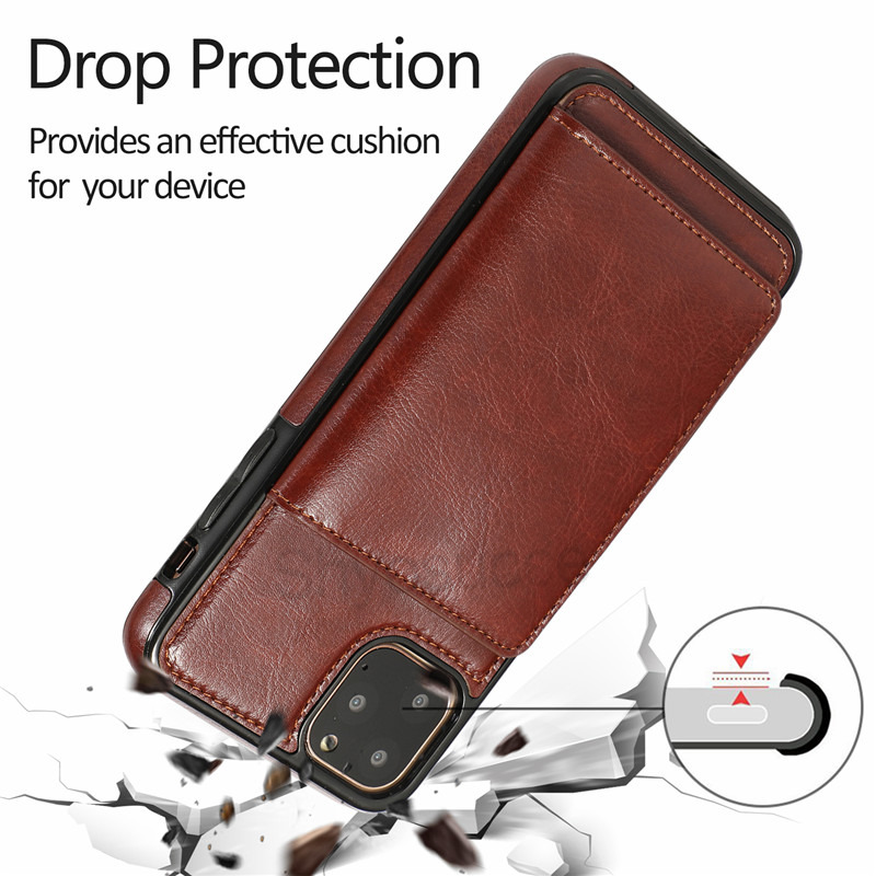 magnetic leather wallet case iPhone 12 11 pro max mini 8 7 6 plus C43