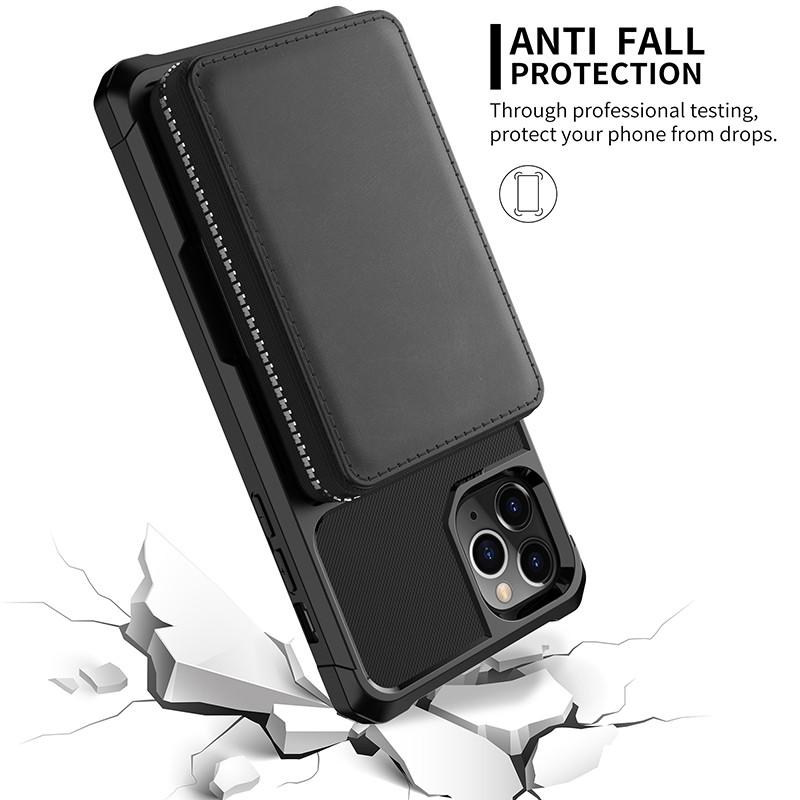 leanther flip cover case for iPhone 12 11 pro max mini 8 7 6 plus C45