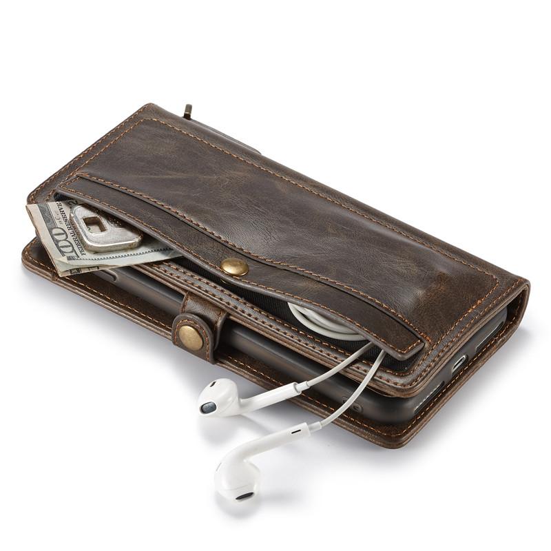 flip leather wallet case pouch for iPhone 11 pro max 8 7 6 plus C48