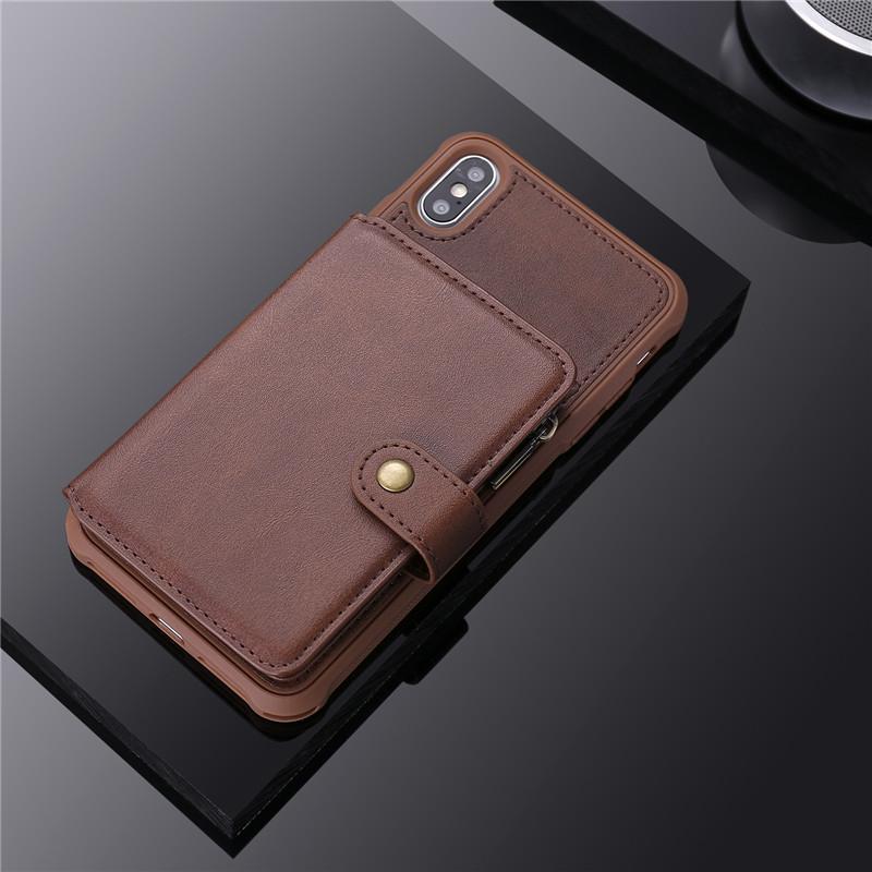 zipper flip wallet case for iPhone 11 pro max mini 8 7 6 plus C49