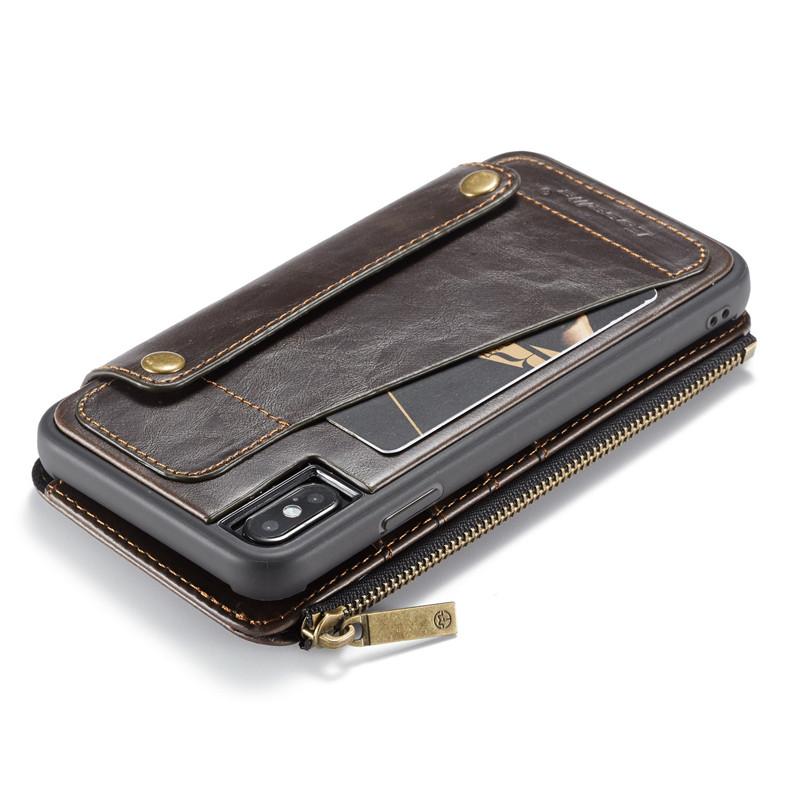 detachable leather wallet case pouch for iPhone 11 pro max mini C53