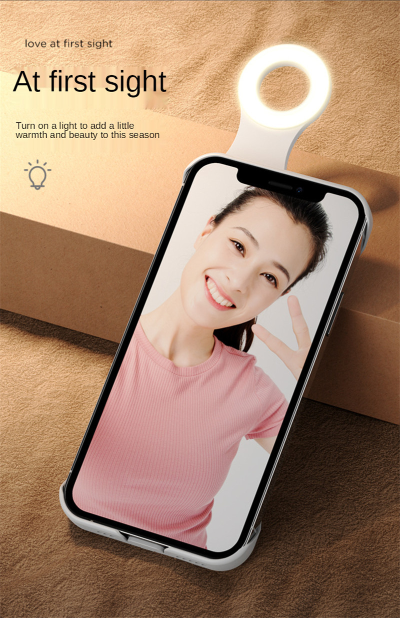 ring flash fill light case for iPhone 12 11 Pro Max 12Pro X Xs Max