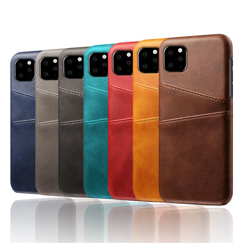 back slim cover leather wallet case for iPhone 12 11 pro max 8 7 6 plus c55