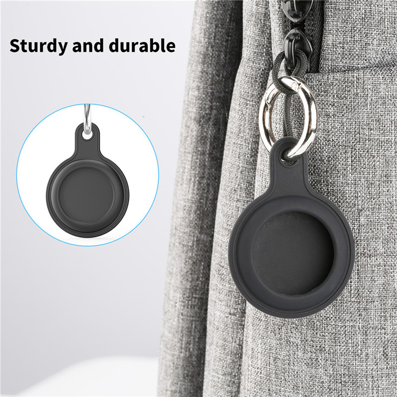 round silicone protector shell sleeve for airtag