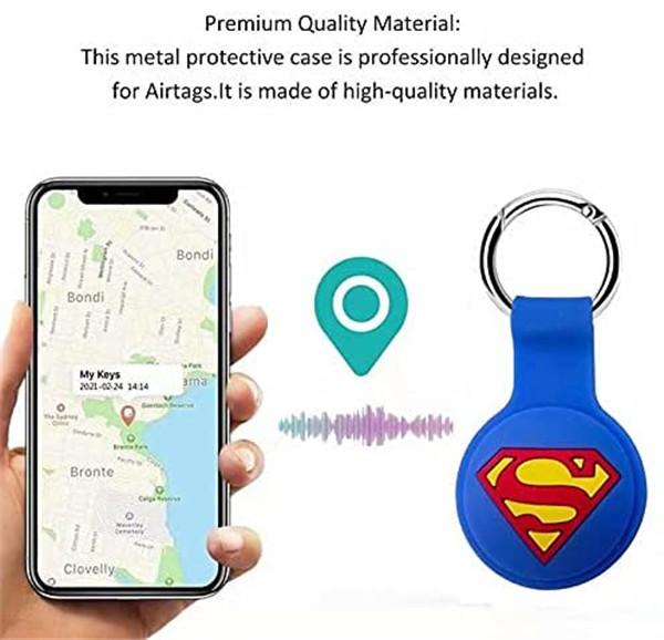 3D design keychain airtag case protective sleeve for airtags