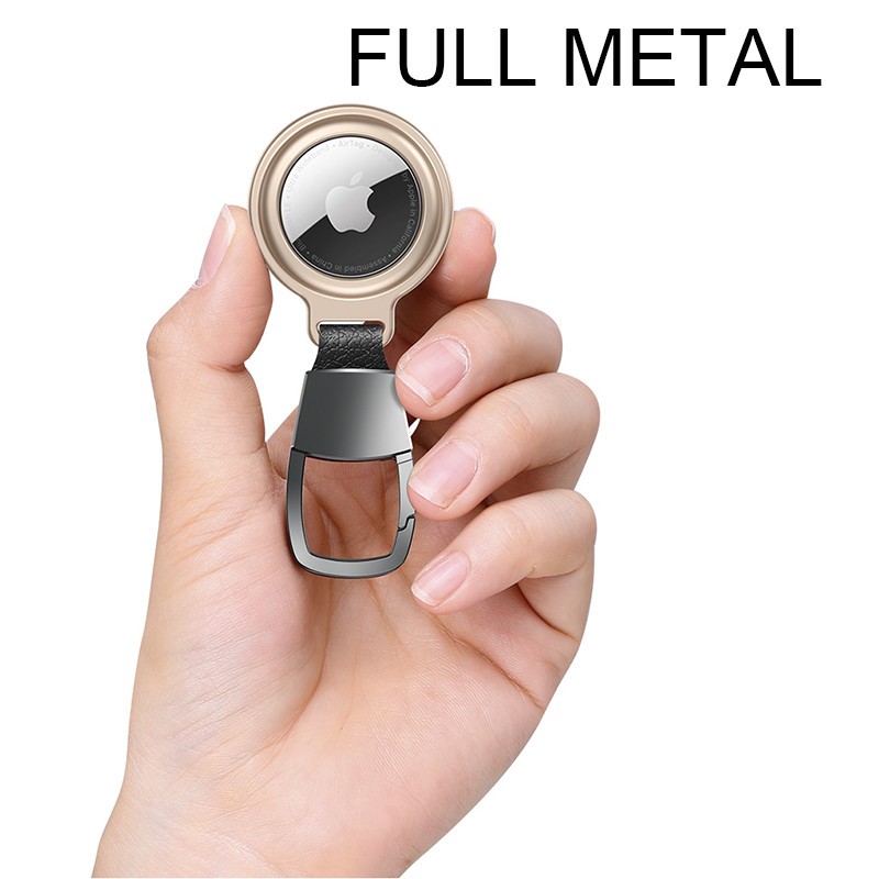 metal magnet airtag keychain case
