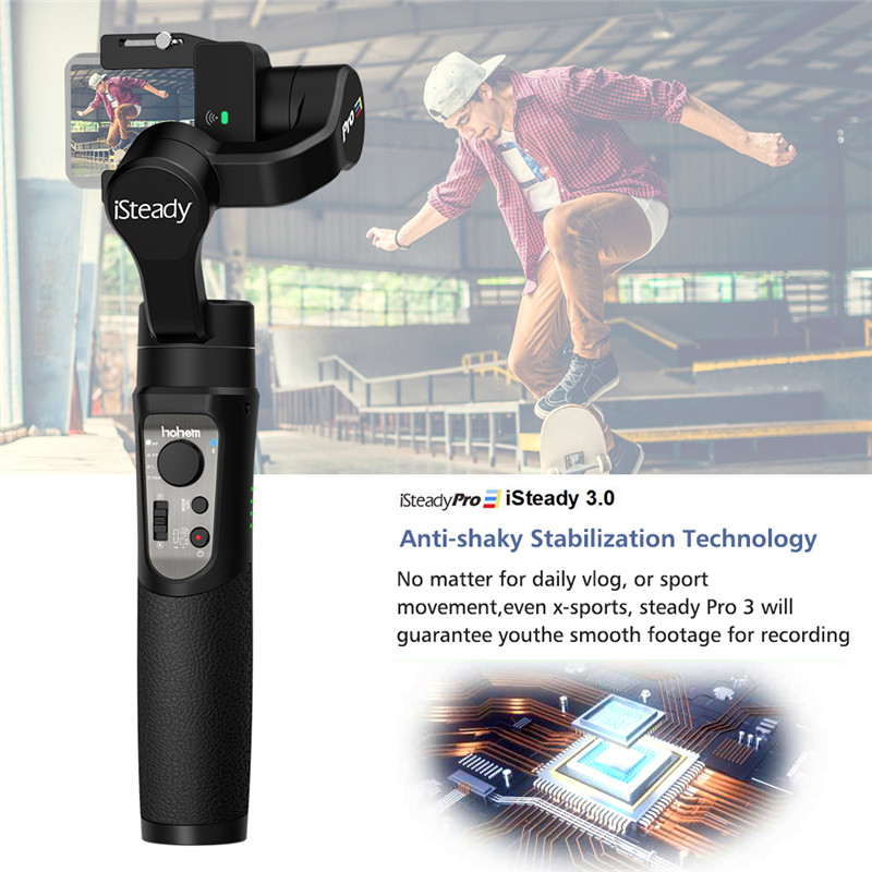 iSteady pro 3action camera gimbal stabilizer