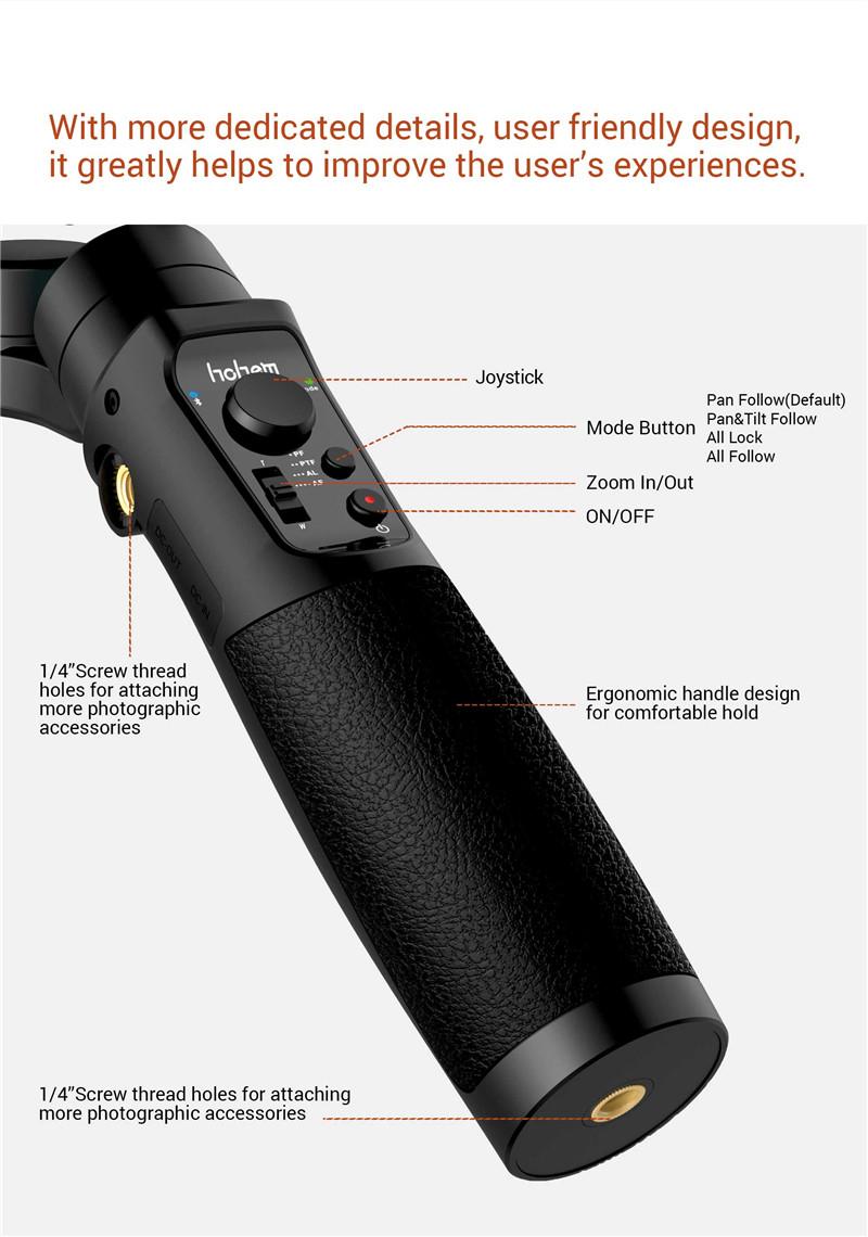 hohem iSteady Multi 3-Axis Handheld Stabilizing Gimbal Stabilizer