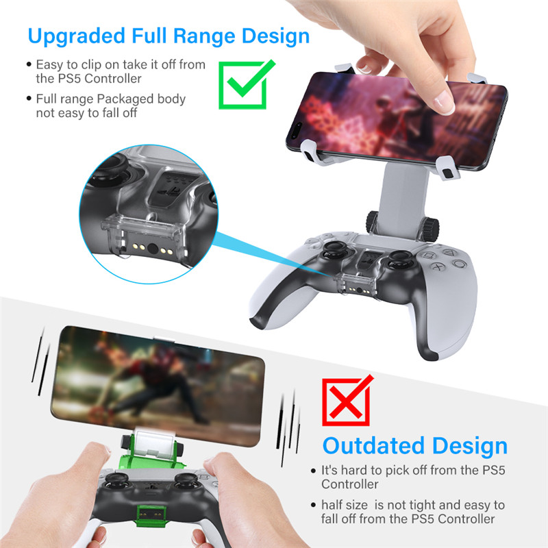DOBE PS5 mobile phone game clip playstation 5 joystick clamp