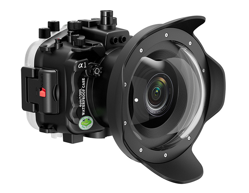 dry lens dome for Sony A1 underwater housing waterproof case