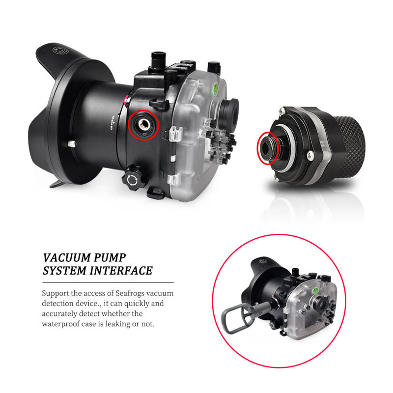 VPS-100 Pre-Dive vacuum leak check system for sony A9 II