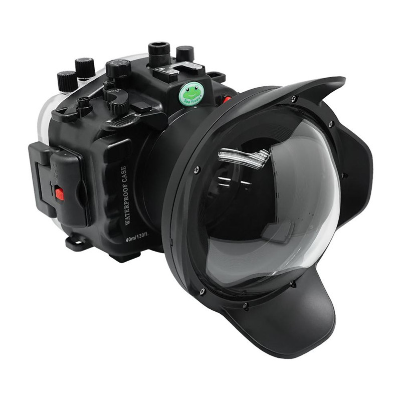 dry lens dome for Sony A9II underwater housing waterproof case