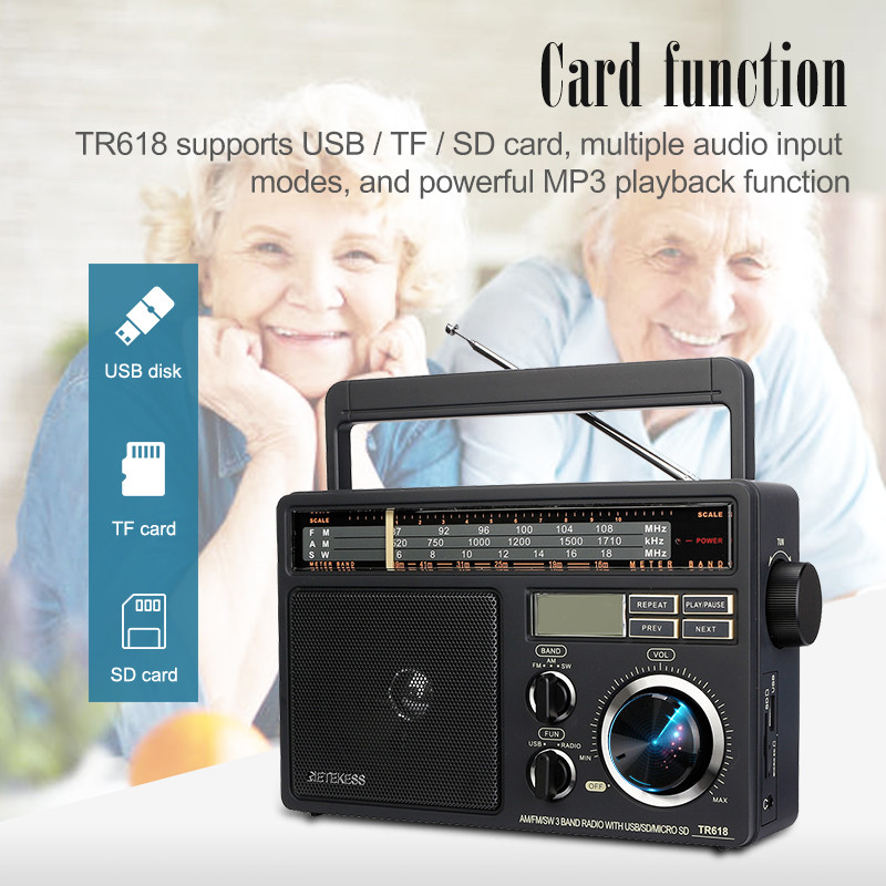 Retekess TR618 AM FM SW portable analog radio