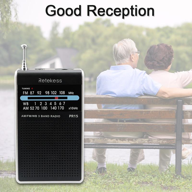 RETEKESS PR15 FM AM portable pocket radio