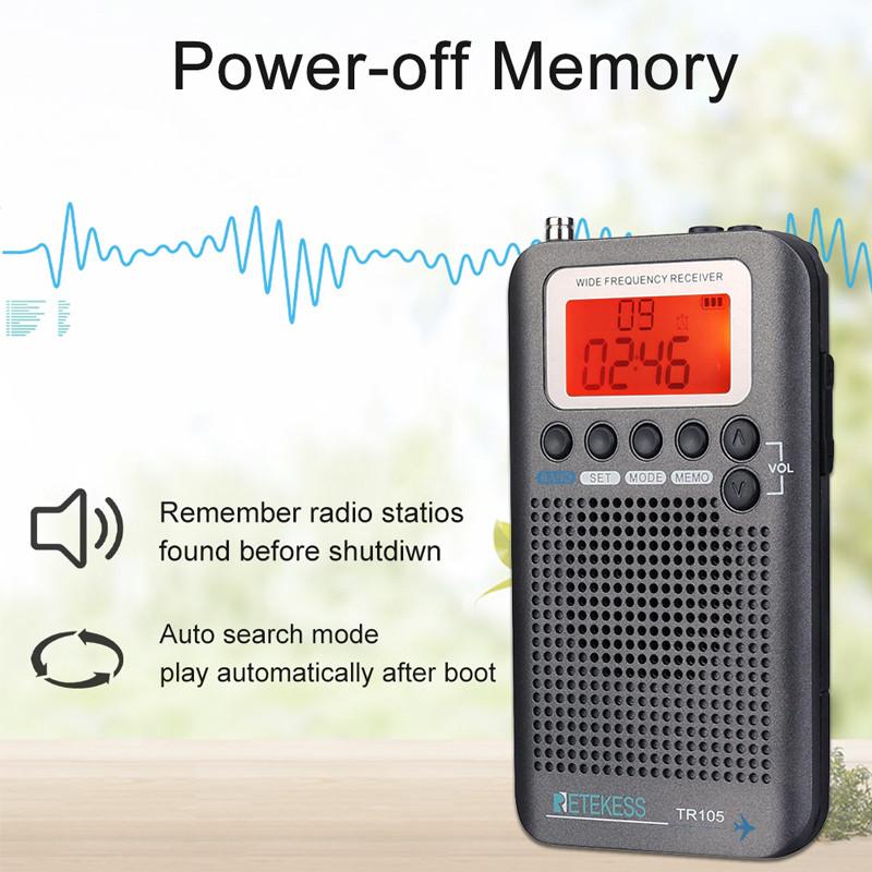 RETEKESS TR105 portable radio FM AM SW receiver