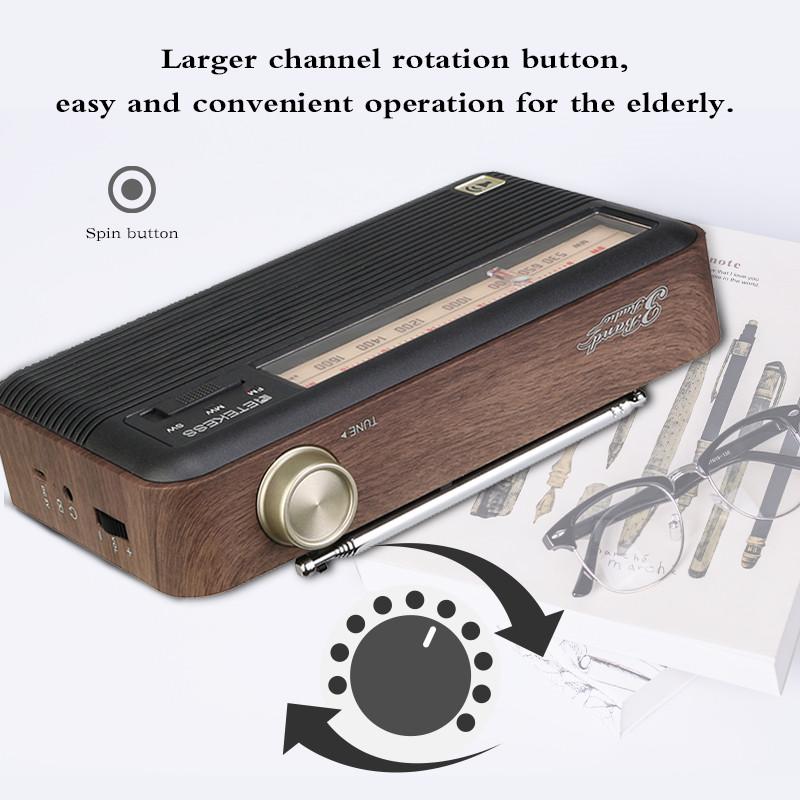 RETEKESS TR614 retro portable radio