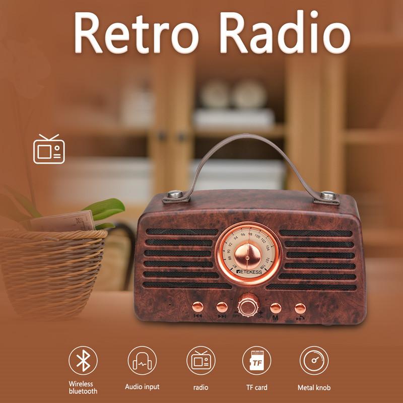 Retekess TR607 retro FM receiver portable radio