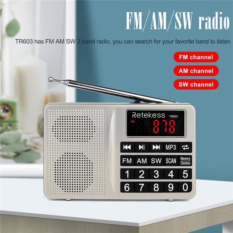 Retekess TR603 AM FM SW portable radio