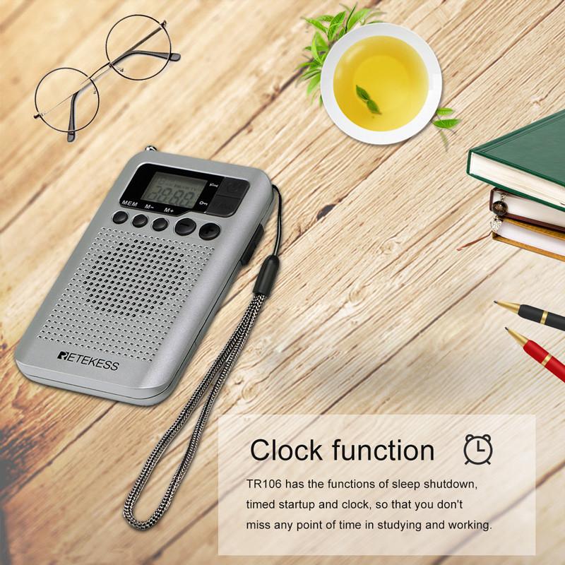 Retekess TR106 portable FM AM radio