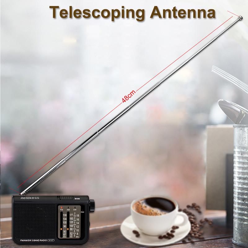 Retekess V117 shortwave analog AM FM portable radio transistor