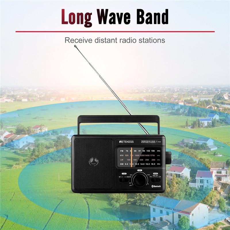 Retekess TR626 AM FM SW LW portable radios bluetooth speaker