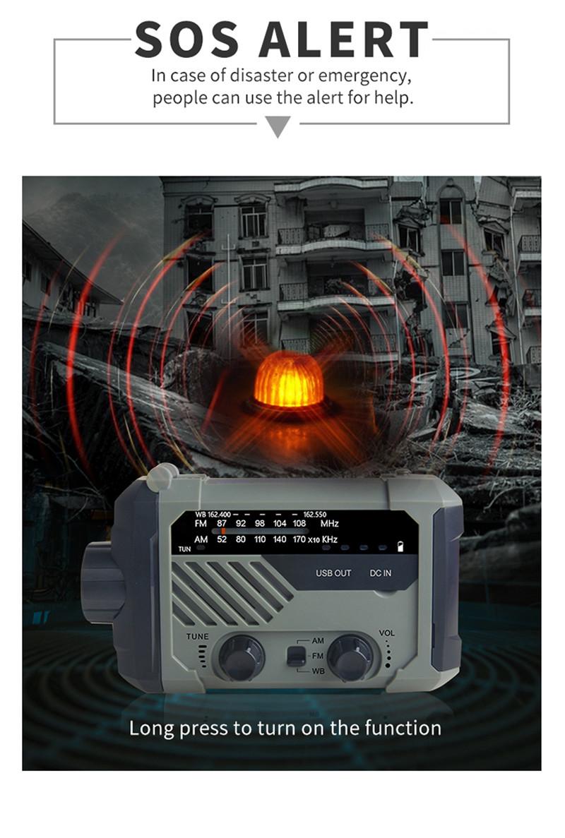 portable radio AM FM NOAA emergency lamp flashligh