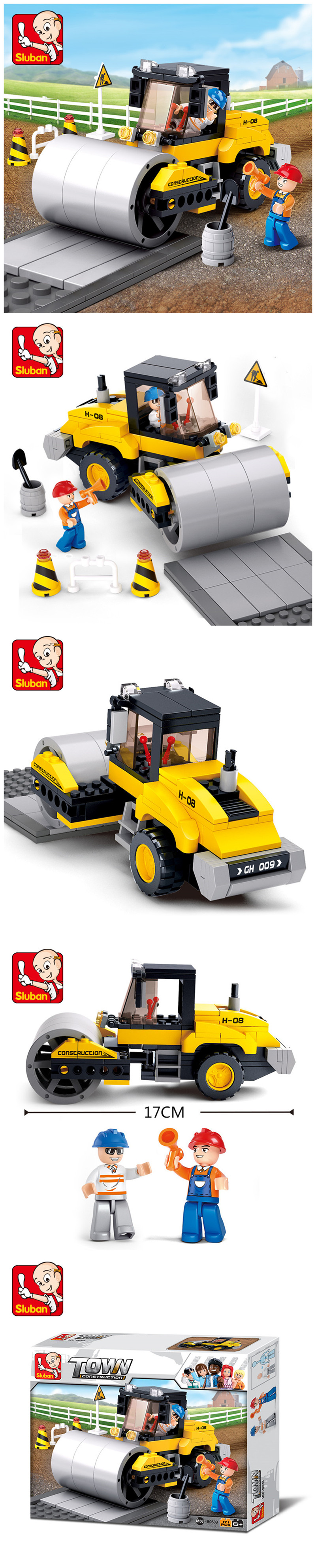 Sluban Building Blocks Educational Kids Toy Street Roller