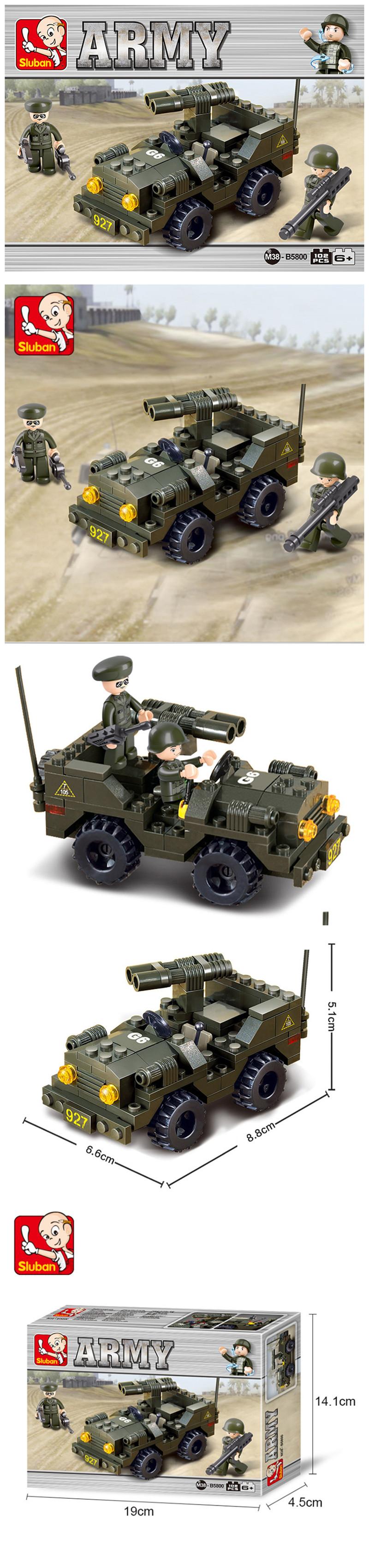 Sluban Building Blocks Kids Toy Vehicle of Army
