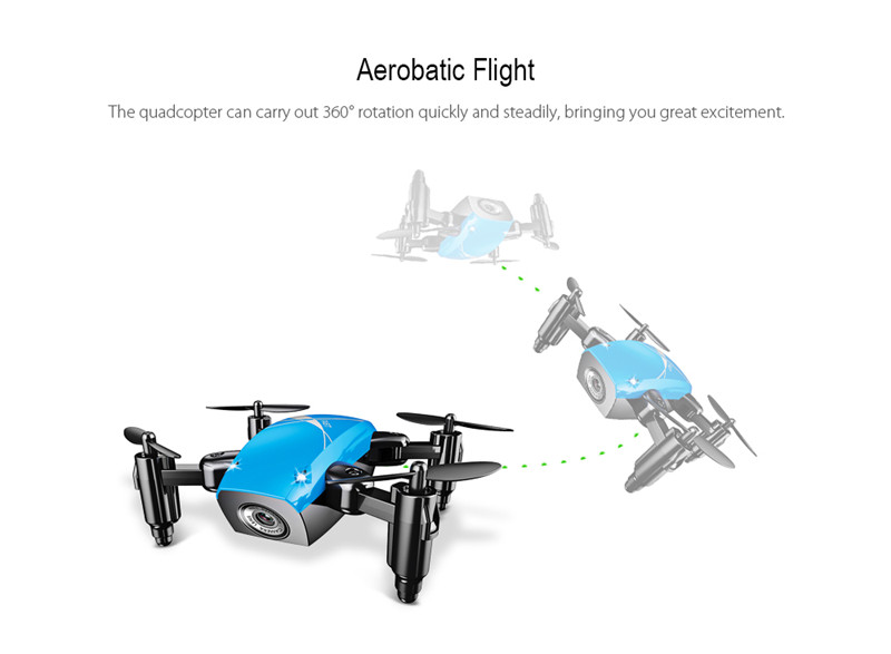 AEOFUN S9 Micro Foldable RTF RC Quadcopter