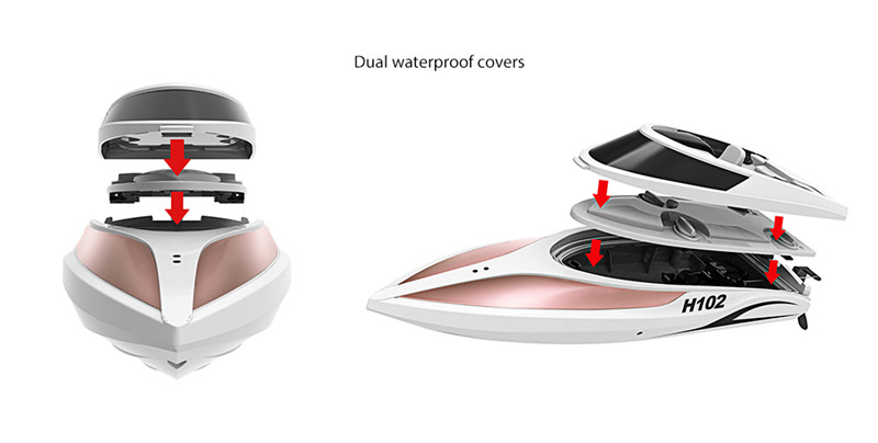 TKKJ H102 Brushed RC Racing Boat RTR 2.4GHz
