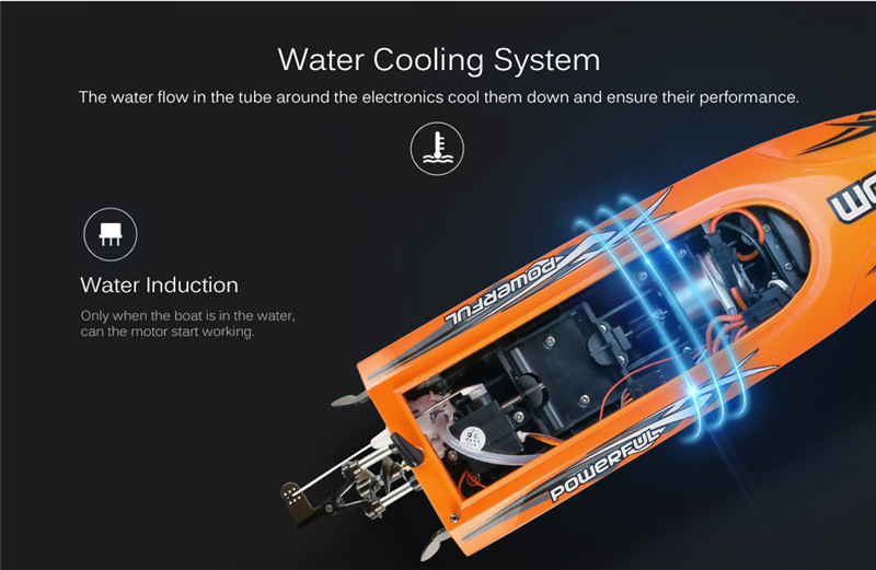 UDI 001 2.4G RC Boat Auto Rectifying Deviation Direction