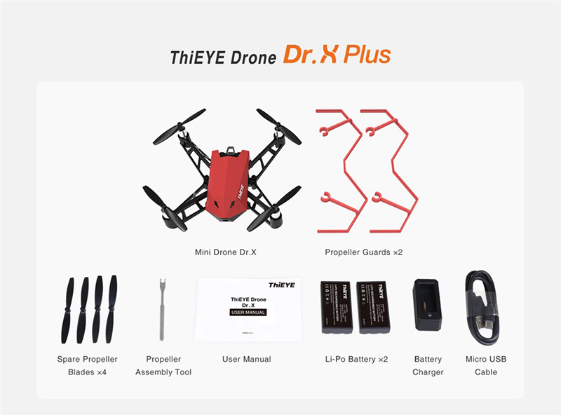 ThiEYE Dr.X WiFi FPV 1080P Camera RC Drone