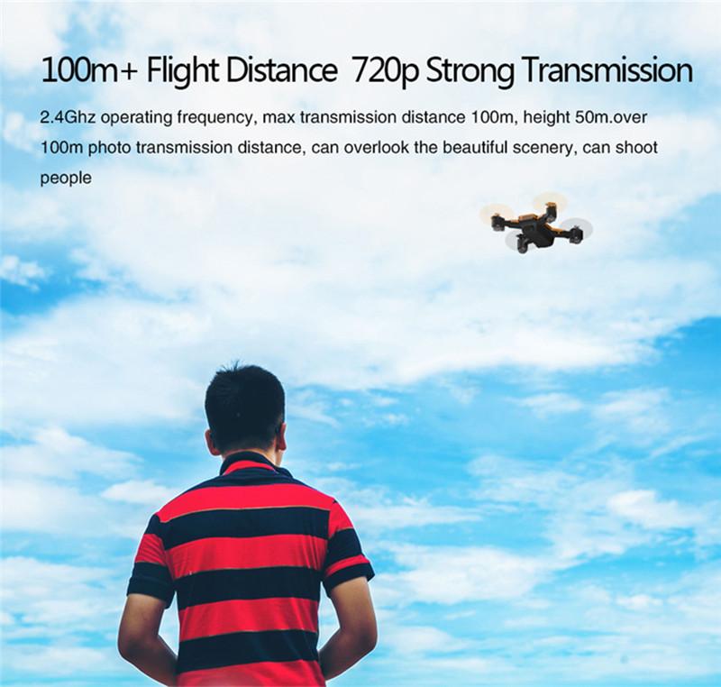 LE IDEA 720P Foldable GPS Altitude Hold RC Drone