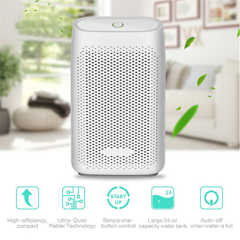 Portable Dehumidifier 700ML Removable Water Tank Electric Air Dryer