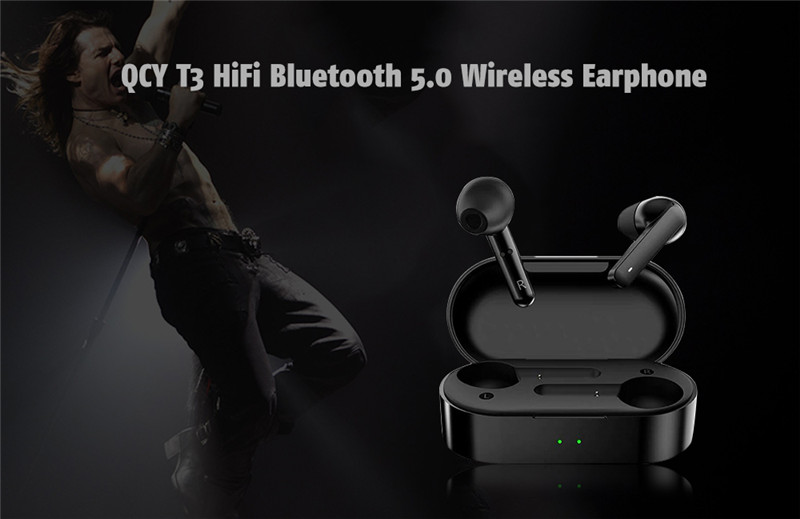 QCY T3 Touch Control Noise Canceling HiFi Bluetooth 5.0 Wireless Earphone