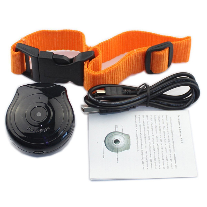 Digital Pet Collar Cam Camera Mini Video Recorder DVR Monitor