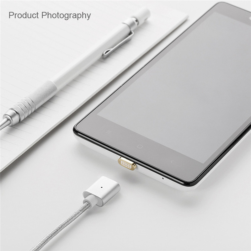 3 in 1 Fast Charging Data Sync Magnetic Micro USB Cable Type-C 8pin