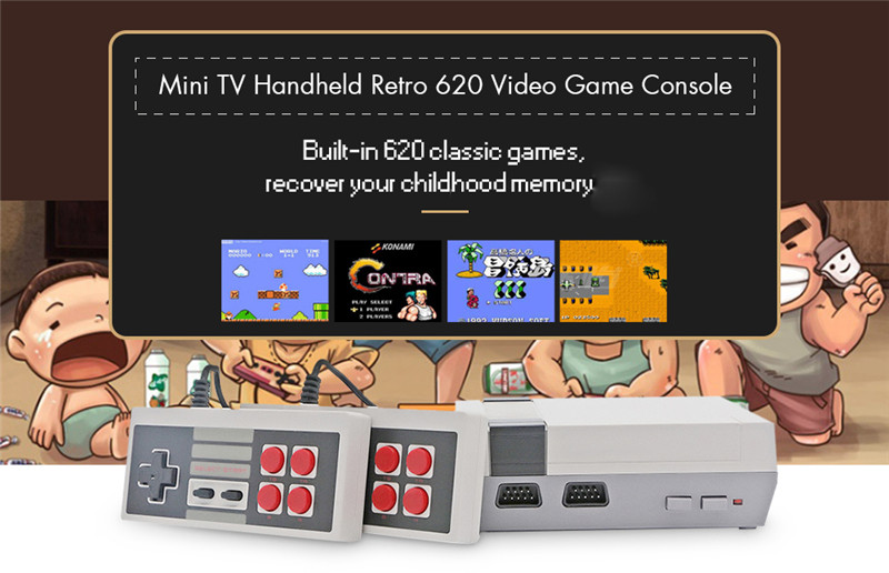 classic mini game consoles built-in 620 TV video game