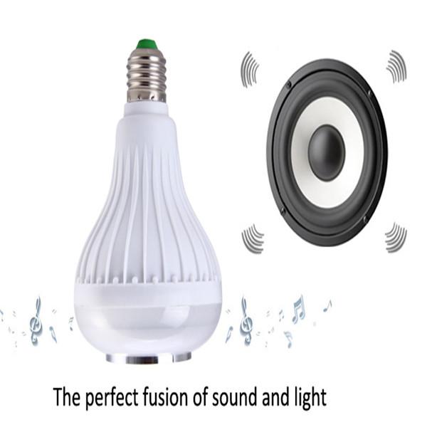 Wholesale Intelligent E27 Light Bulb Colorful LED Lamp Bluetooth 3.0 Speaker